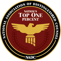 National Association of Distinguished Counsel Top 1%