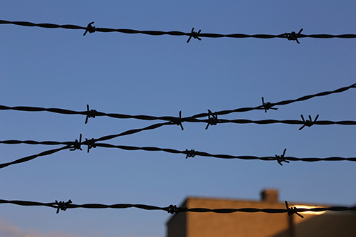 prision barbed wire