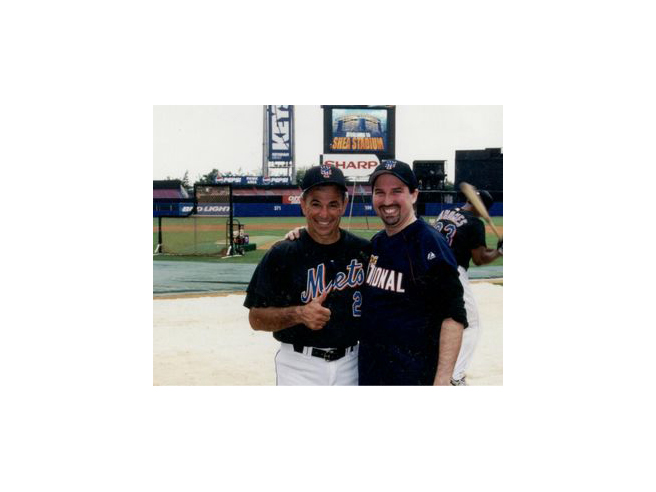 Adam M. Thompson & Bobby Valentine at the 2000 Bobby Valentine Foundation Charity Event