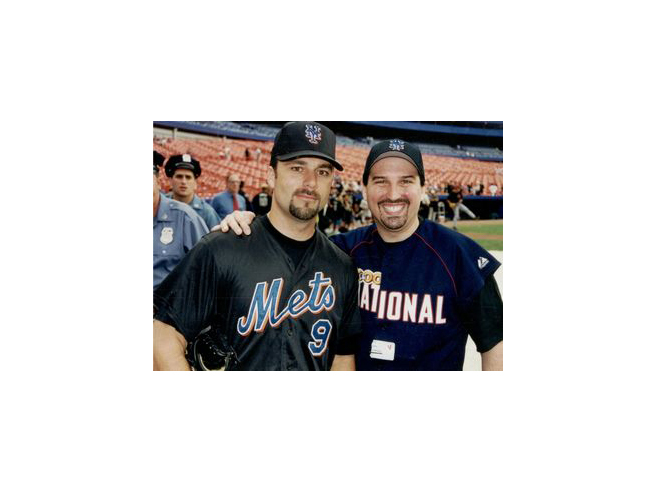 Adam M. Thompson & Todd Zeile at the 2000 Bobby Valentine Foundation Charity Event