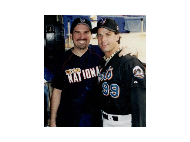 Adam M. Thompson & Turk Wendell at the 2000 Bobby Valentine Foundation Charity Event