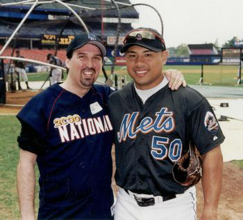 Adam M. Thompson & Benny Agbayani at the 2000 Bobby Valentine Foundation Charity Event