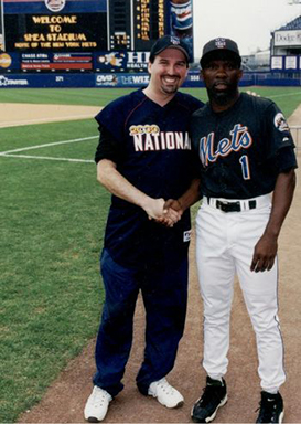 Adam M. Thompson & Mookie Wilson at the 2000 Bobby Valentine Foundation Charity Event