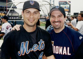 Adam M. Thompson & Robin Ventura at the 2000 Bobby Valentine Foundation Charity Event