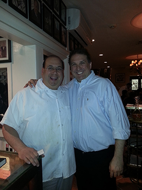 Adam and Chef Sal of Patsy's