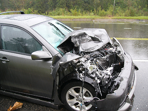 a car that has been in an accident