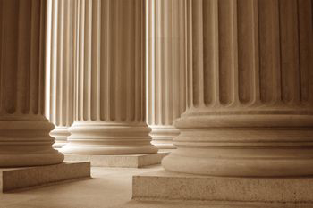 columns of a court house