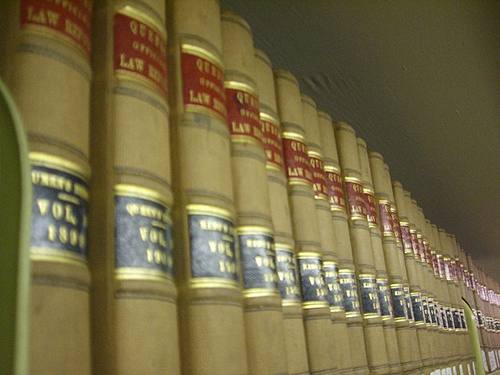 law books on a shelf